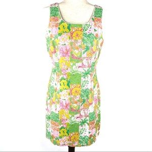 Lilly Pulitzer tropical jacquard patchwork dress 6
